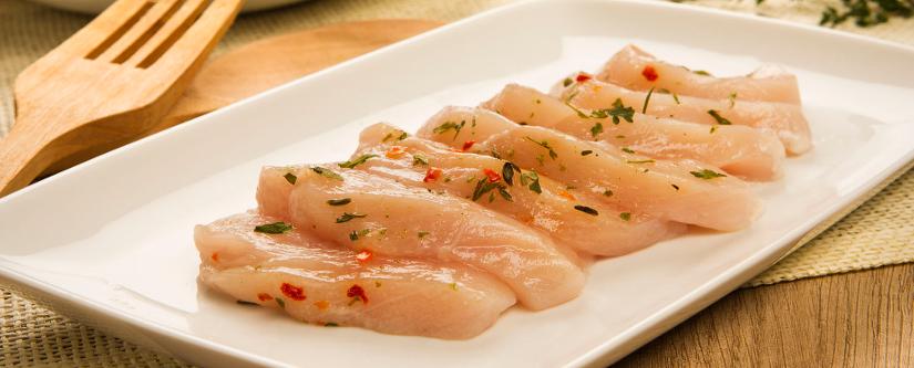Carne de pollo y carne de pavo en la dieta atlántica